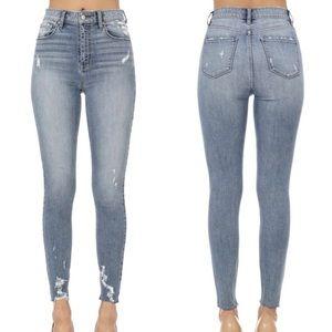 LAST 2 | Super High Waisted Denim Skinny Jeans